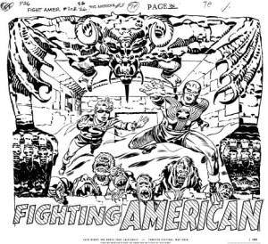 "Fighting American silkscreen - 23 5/8"" x 19 5/8"""
