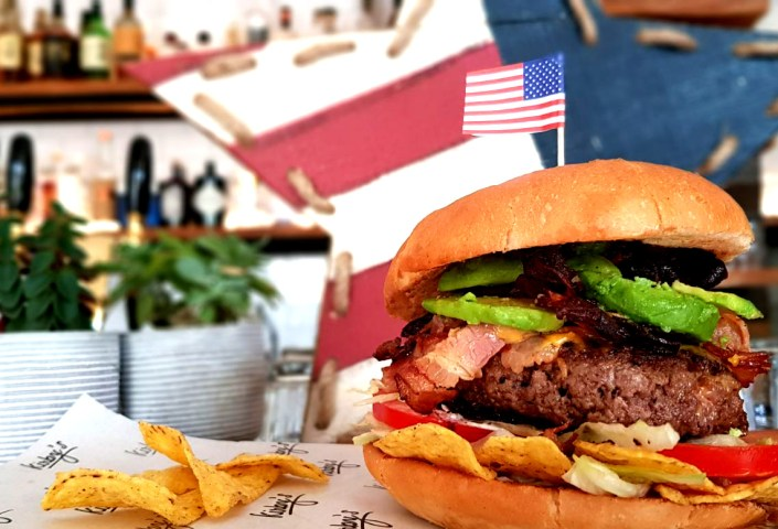 Kirbys 4th July Burger