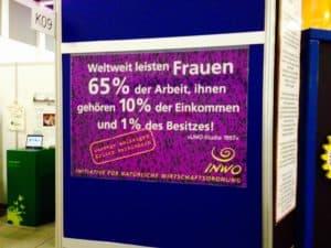 Mit einem einfachen Plakat einen Hingucker für Geschlechtergerechtigkeit erzeugen – gekonnte Aktion!