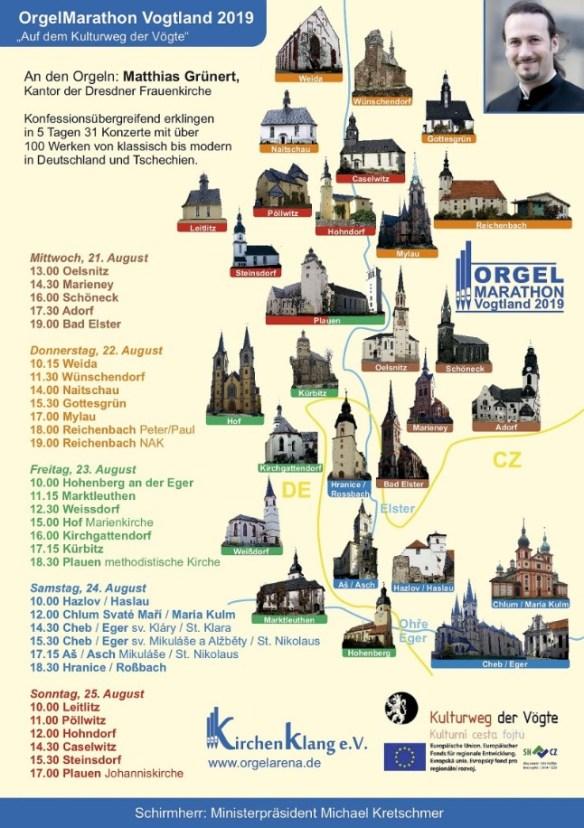 OrgelMarathon 2019 - Orgelmarathon 2019 im Vogtland
