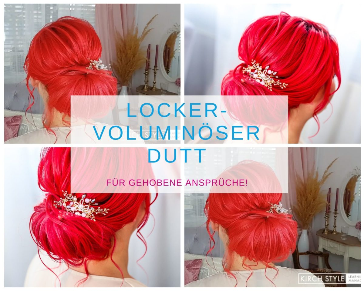 Locker – voluminöser Dutt