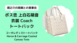 【ボス恋/上白石萌音衣装】トートバッグはコーチ!馬車/コートキャンバスフィールドトート