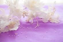 白の実バック薄紫
