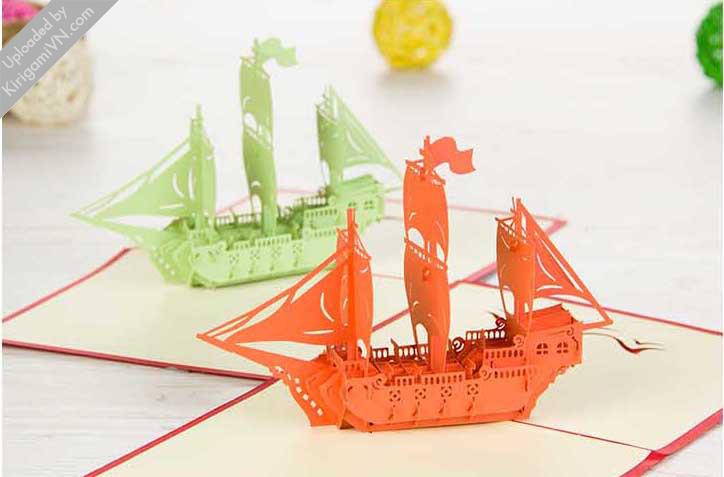 Sailing Boat Pattern KirigamiVN preview 3