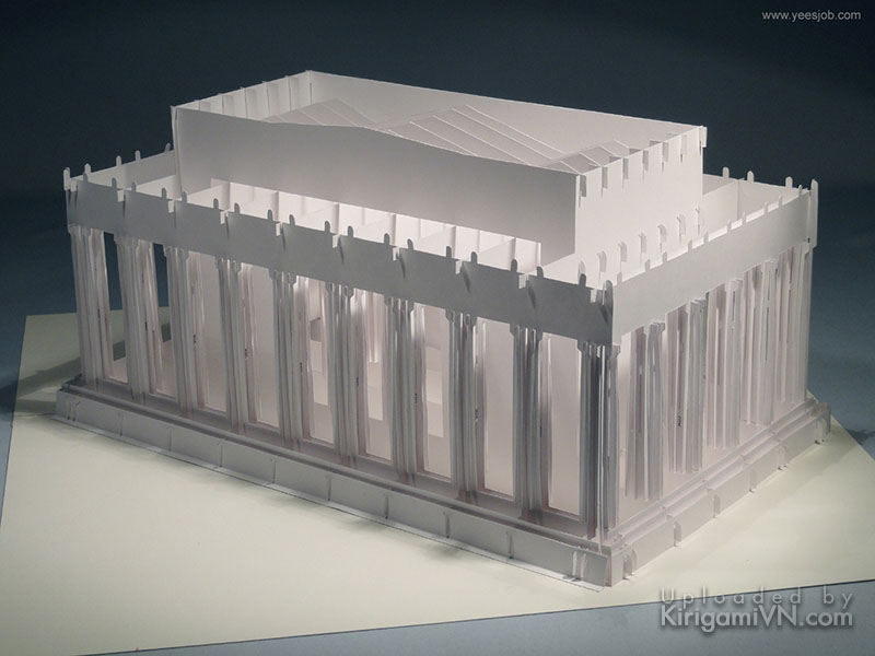 The Lincoln Memorial pattern prewview kirigami 1
