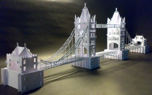 The Tower Bridge Pattern preview KirigamiVN.com 1