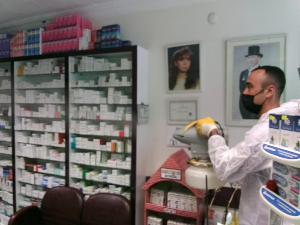 Kırıkkale'de eczaneler dezenfekte ediliyor