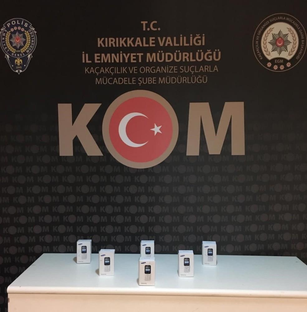 Kırıkkale'de 6 kaçak telefon ele geçirildi