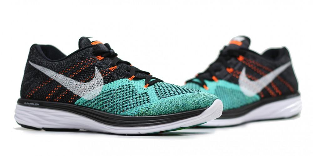 Nike Flyknit Lunar 3 Black Hyper Jade