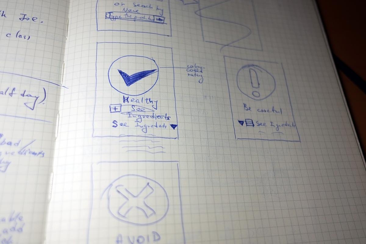 Evil Foods Case Study - Sketch 2