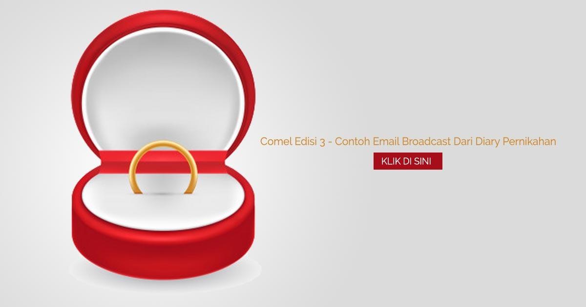 Comel Edisi 3 - Contoh Email Broadcast Dari Diary Pernikahan