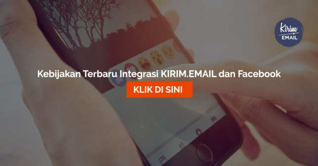 Kebijakan Terbaru Integrasi KIRIMEMAIL dan Facebook
