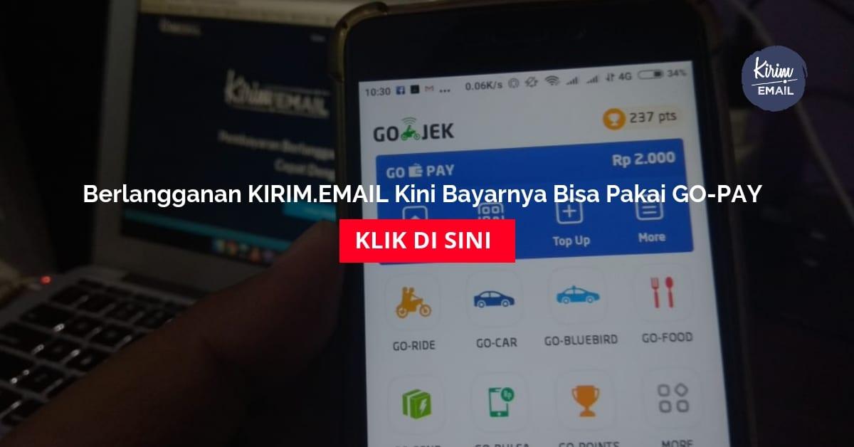 Berlangganan KIRIMEMAIL Kini Bayarnya Bisa Pakai GO-PAY
