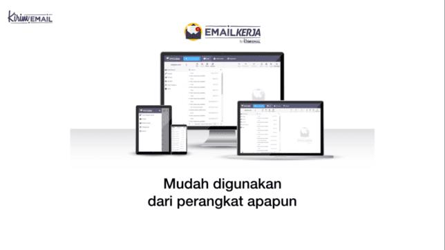 emailkerja mudah digunakan