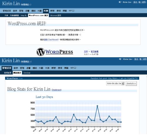 WordPress.com Stats Plugin 1.1