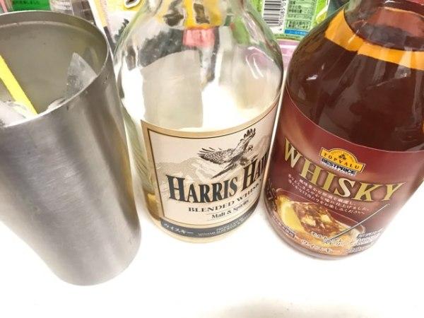 セブンイレブンのハリスホークとトップバリュのウイスキー