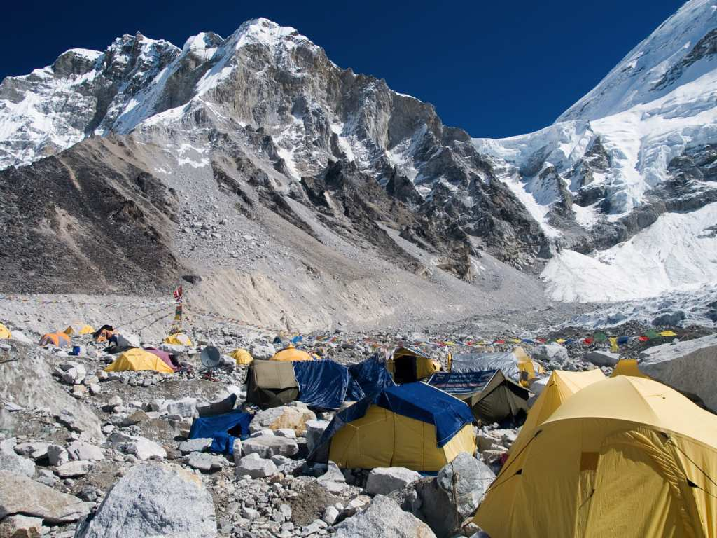 base camp at Mount Everest