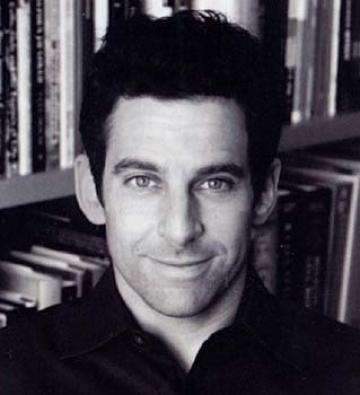 Author Sam Harris.  This picture, like his worldview, is black and white.