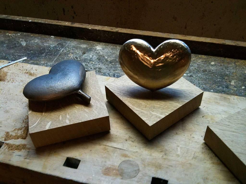 Seedorf håndlavet bronce hjerte