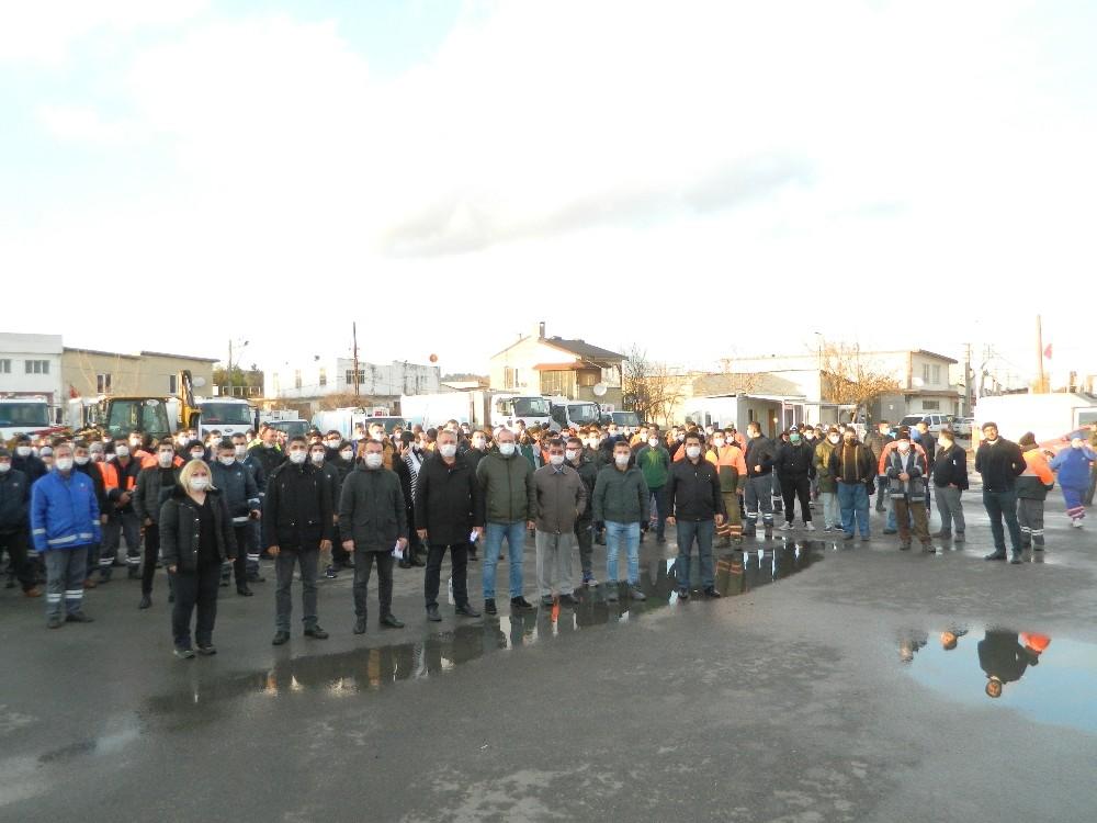 Lüleburgaz Belediye işçilerinin eylemi sürüyor