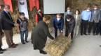 Kırklareli'nde ıslah edilen meralarda yetiştirilen hayvan yemleri besicilere dağıtıldı