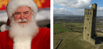 Santa and castle hill