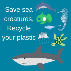 Save sea creatures, Recycle your plastic