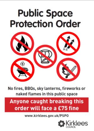 Image of PSPO sign