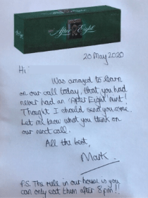 Mark's letter to his young person