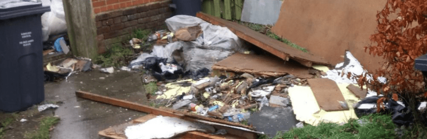 fly tipping mess