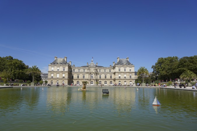 Luxembourg Palace Across Pond