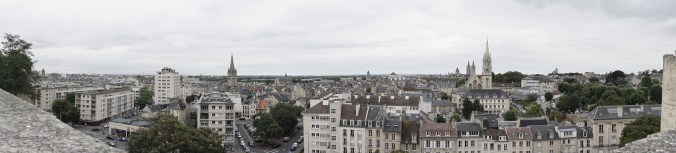 View of the City from Chateau du Caen