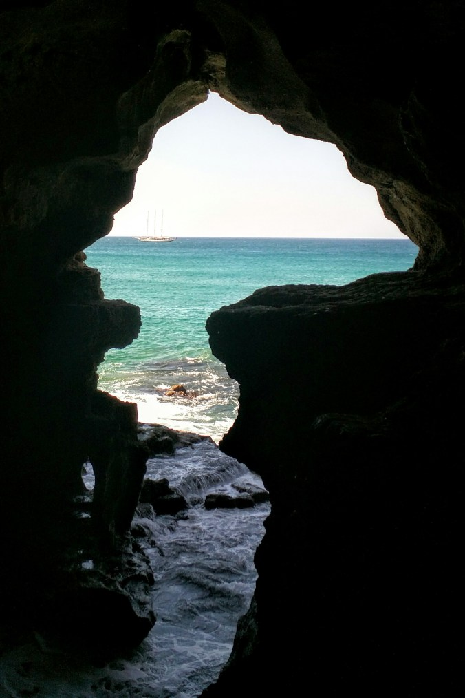 Africa Entrance to the Cave Carved by Phoenicians