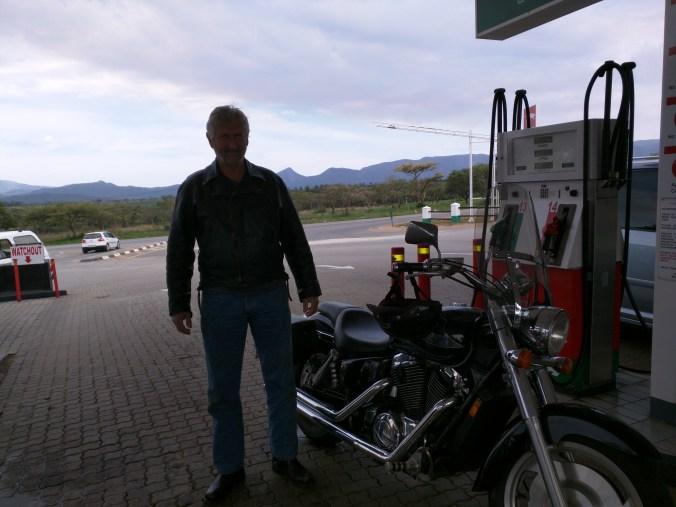 John and his Honda Shadow