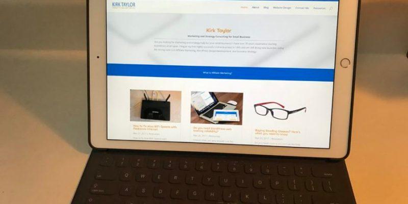 using an iPad Pro