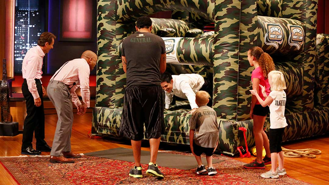 Bounce Boot Camp bouncy house fitness Shark Tank pitch