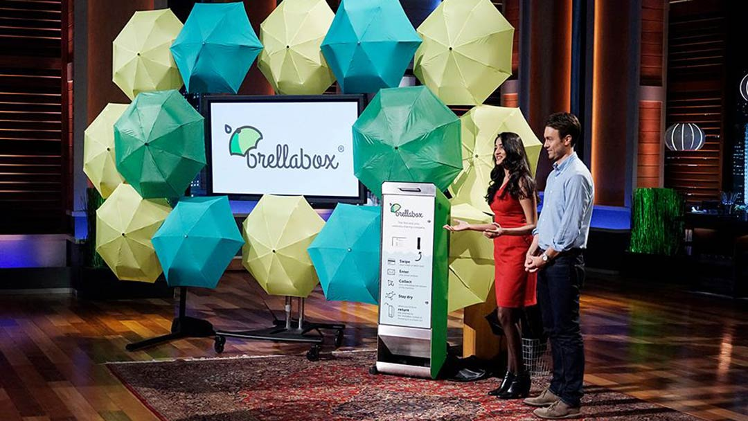 brellaBox umbrella rentals in Shark Tank Pitch do not get a deal