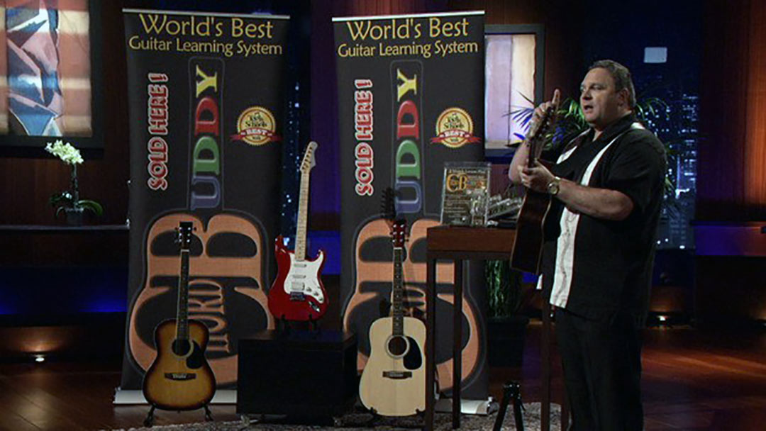 Chord Buddy Guitar Lesson Teaching System Scores Robert Herjavec Shark Tank Deal