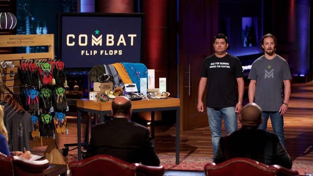 Combat Flip Flops Shark Tank deal with Mark Cuban, Daymond John and Lori Greiner