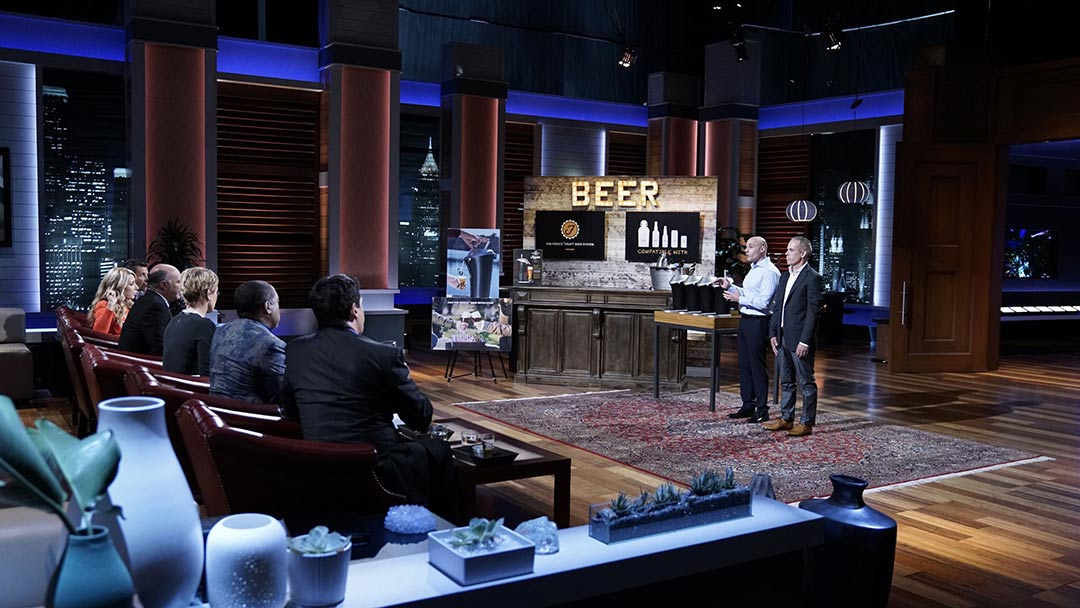 Fizzics Beer Foam machine Shark Tank Deal with Mark Cuban Lori Greiner