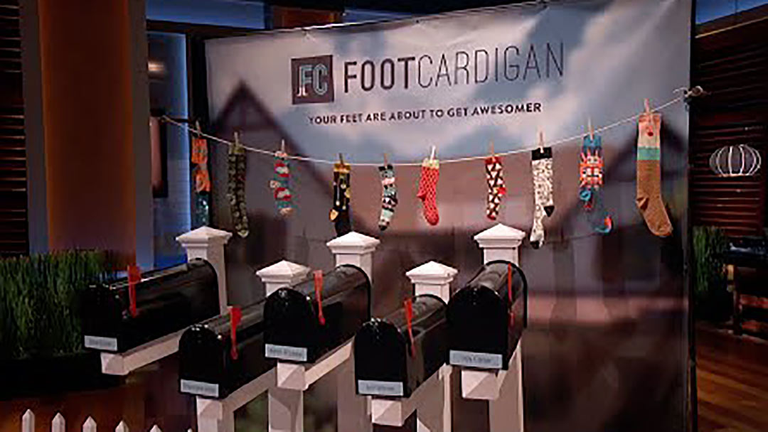 Foot Cardigan socks Shark Tank Mark Cuban Troy Carter Deal