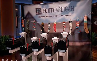 Foot Cardigan socks Shark Tank Mark Cuban Troy Carter Deal
