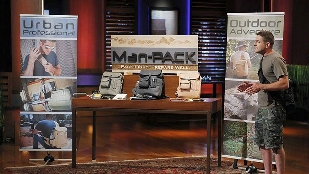 The Man-PACK bags for men misses Shark Tank Deal. Shark Tank Effect Win