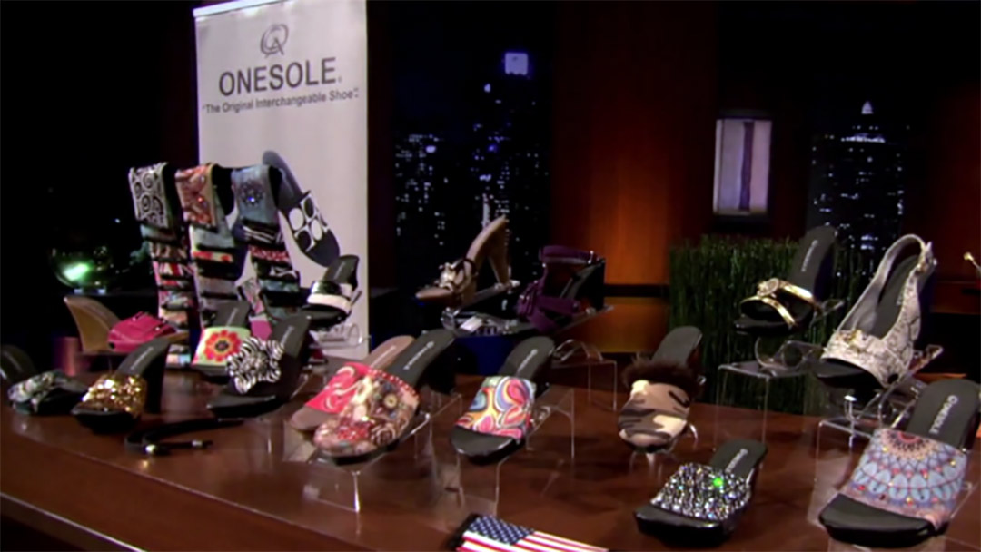 One Sole Shark Tank deal on interchangeable shoe with Daymond John