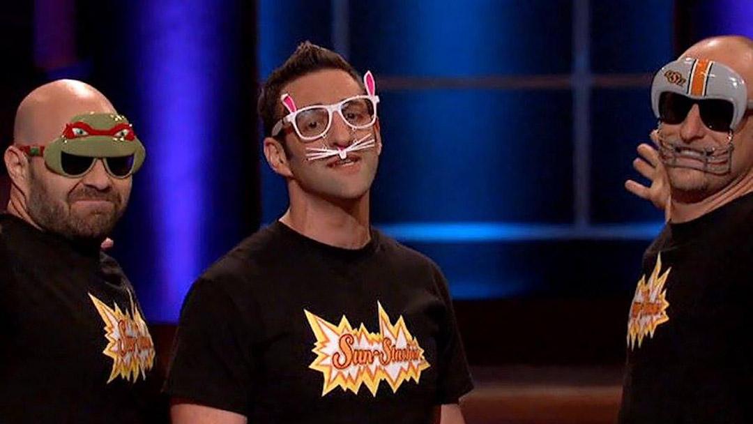 Sun-Staches face masks intense Shark Tank Deal with Daymond John