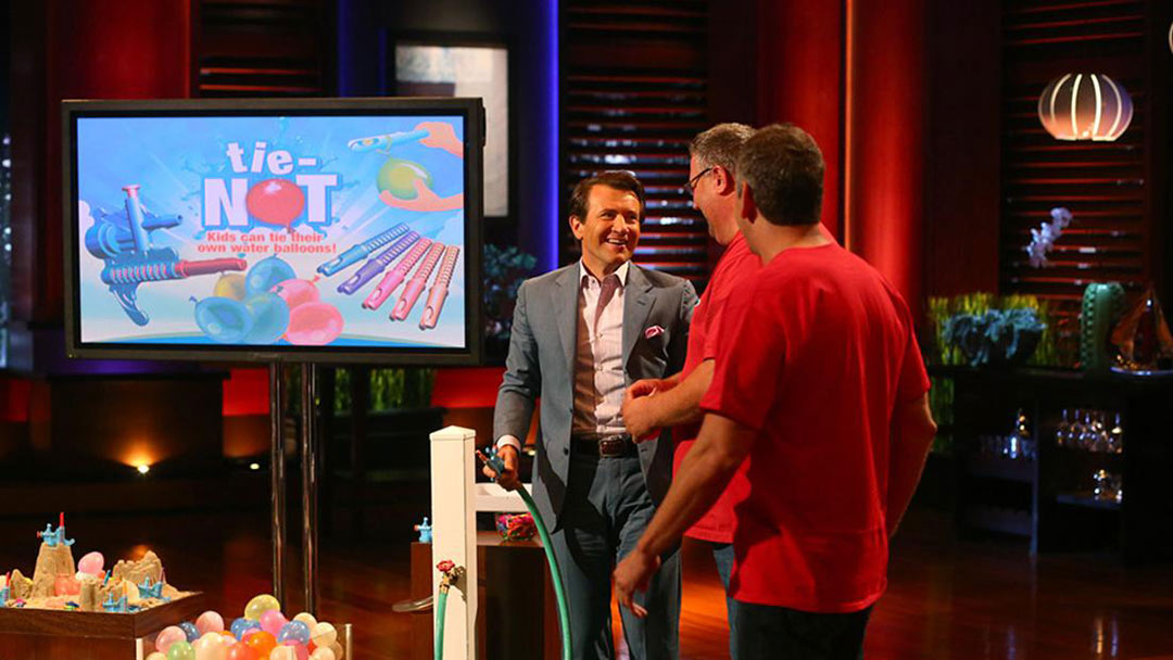 Tie-Not water balloon burst the Shark Tank Bubble turns down Barbara Corcoran