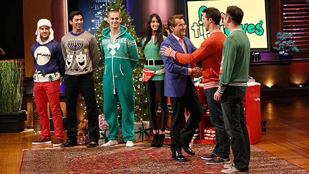 Tipsy Elves Ugly Christmas Sweater Shark Tank Pitch Robert Herjavec