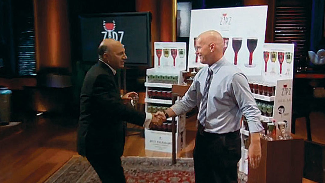 Zipz single serve wine glass scores $2.5 Million Kevin O'Leary Shark Tank Deal