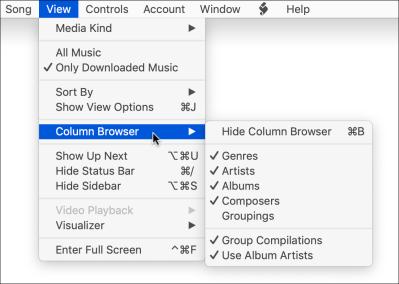 Column browser view