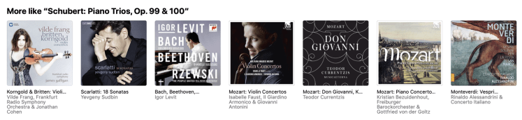 Classical recommendations